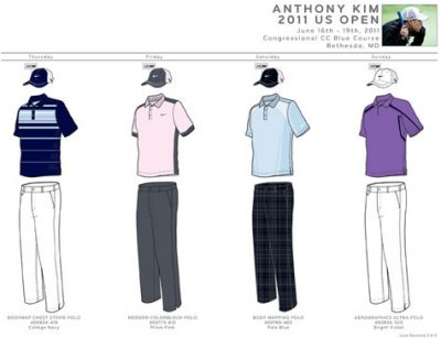 Anthony Kim U.S. Open Apparel