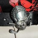 Golf Skull Belt Buckle