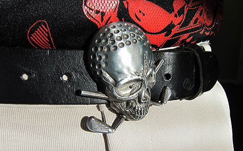 Golf Skull Belt Buckle