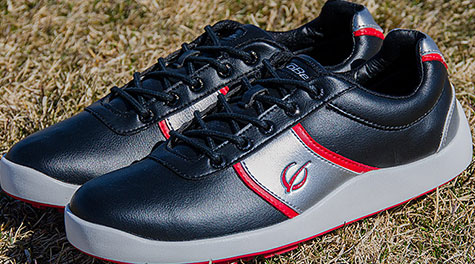 GoBe Golf Prodigy-Black/Red Golf Shoes - click for more images