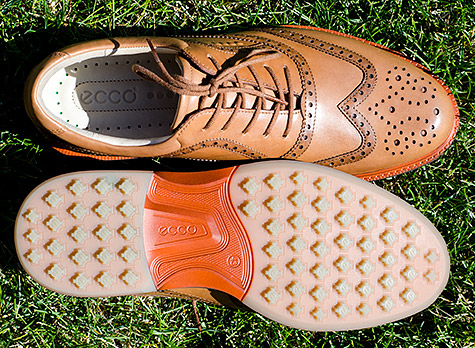 Ecco Tour Hybrid Wingtip Golf Shoes - click to see more