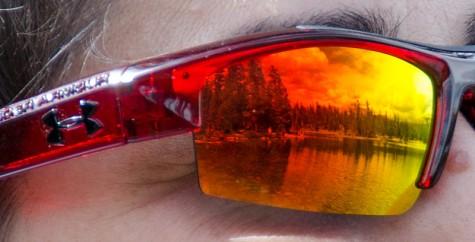 Under Armour Nitro Crystal Red Black Gray Sunglasses