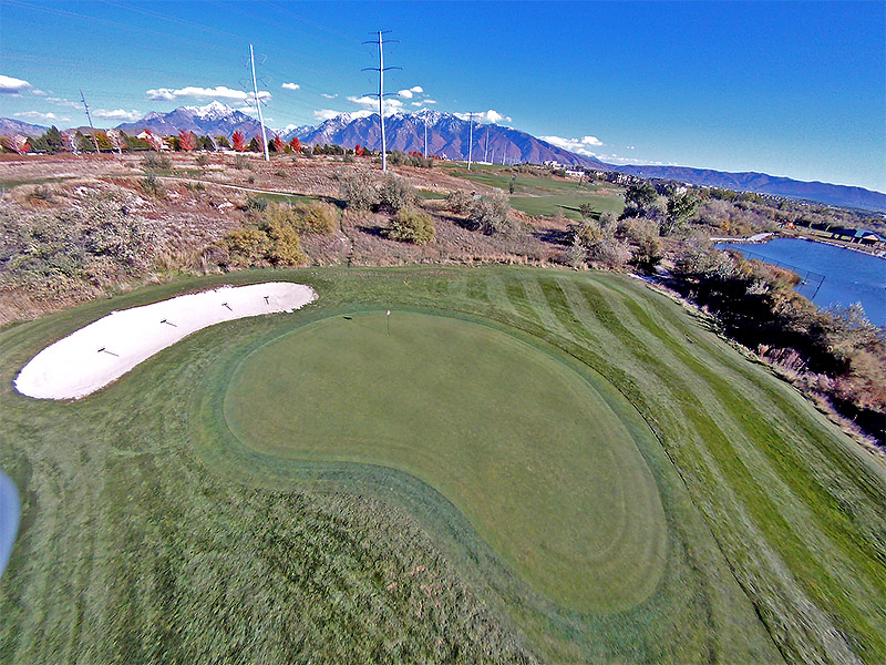 Aerial Shot - River Oaks Golf Course Hole #12