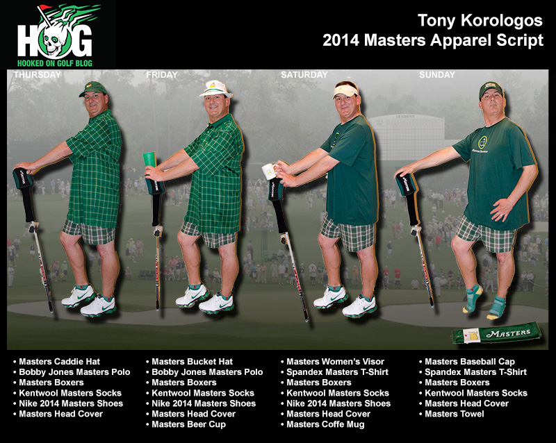 2014 Masters Apparel Script - Golf PR Companies Take Note