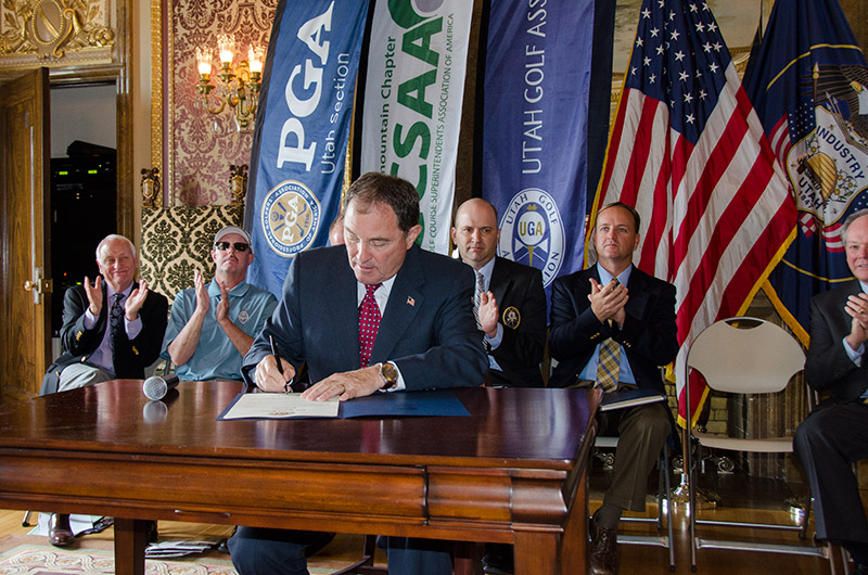 Utah Governor Gary Herbert Signs Utah Golf Proclamation