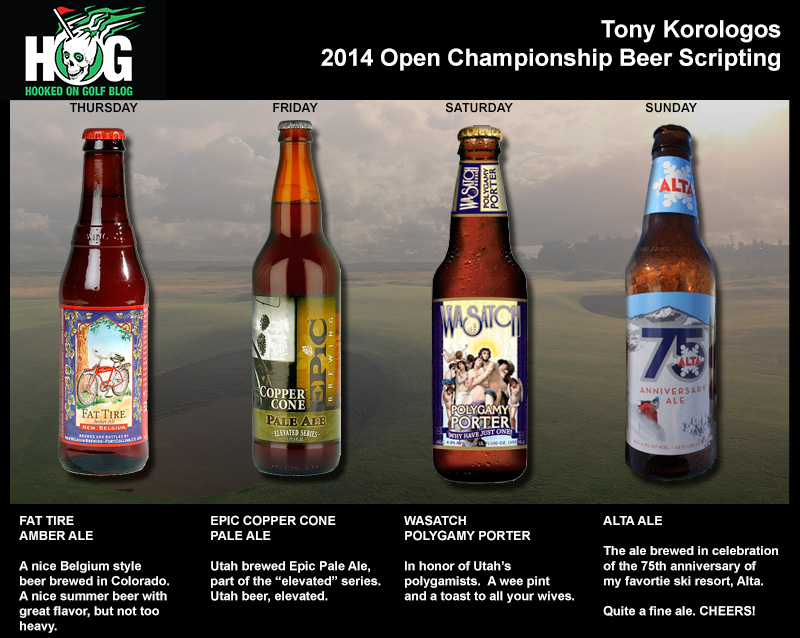 My 2014 Open Championship Beer Scripting Features Rocky Mountain Selections