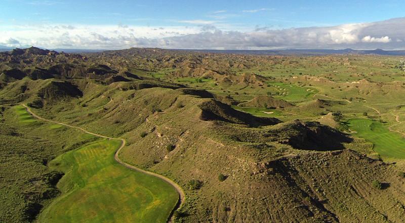 Aerial Photo of New Mexico's Black Mesa Golf Club - © 2014 by Tony Korologos