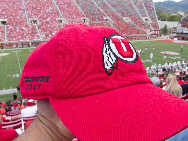 Bridgestone Golf hat with Utes logo  = beautiful!