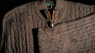 Bobby Jones Baby Alpaca 1/4 Zip Sweater