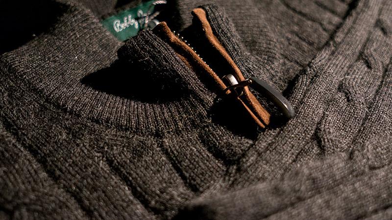 Bobby Jones Baby Alpaca 1/4 Zip Sweater
