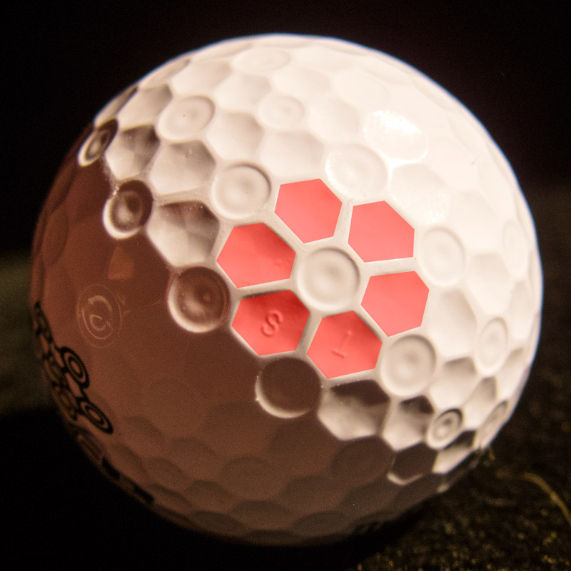 Bridgestone Golf e7 Flower Pattern Dimple Highlighted