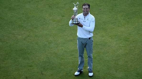 Zach Johnson with the Claret Jug