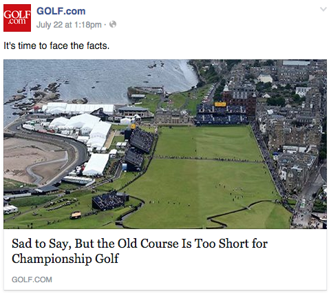 The facts are that golf.com posts more skank T&A click bait than golf.  Maybe they should stick with their strengths?