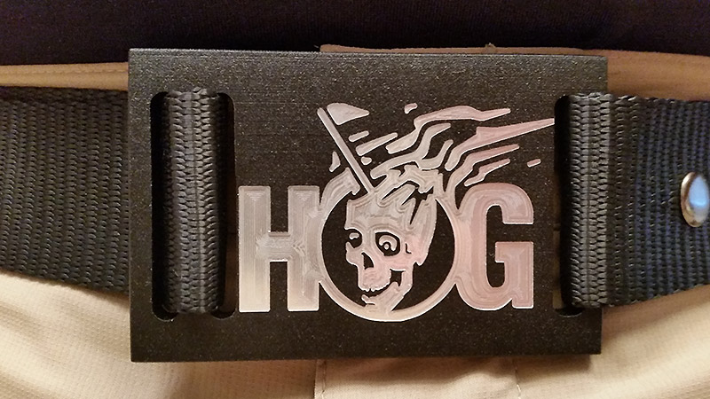 Custom Milled HOG NXT18GOlf Belt