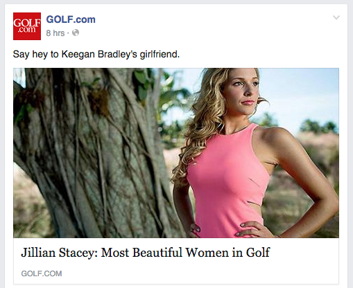 Good for golf? Probably not.  Good for hits and clickbait?  Absolutely