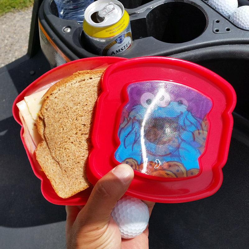 Cookie Monster Sandwich Holder