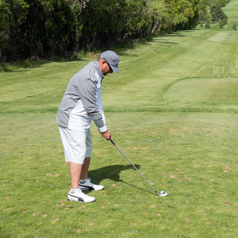 Puma Golf 1/4 Zip Popover In Action!