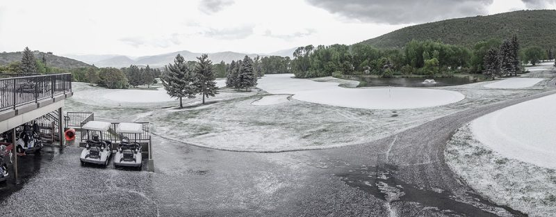 Hail Storm at Wasatch Mountain State Park Golf Course