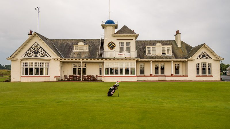 At Panmure Golf Club near Carnoustie, Scotland