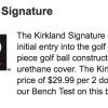 Costco Kirkland Golf Balls