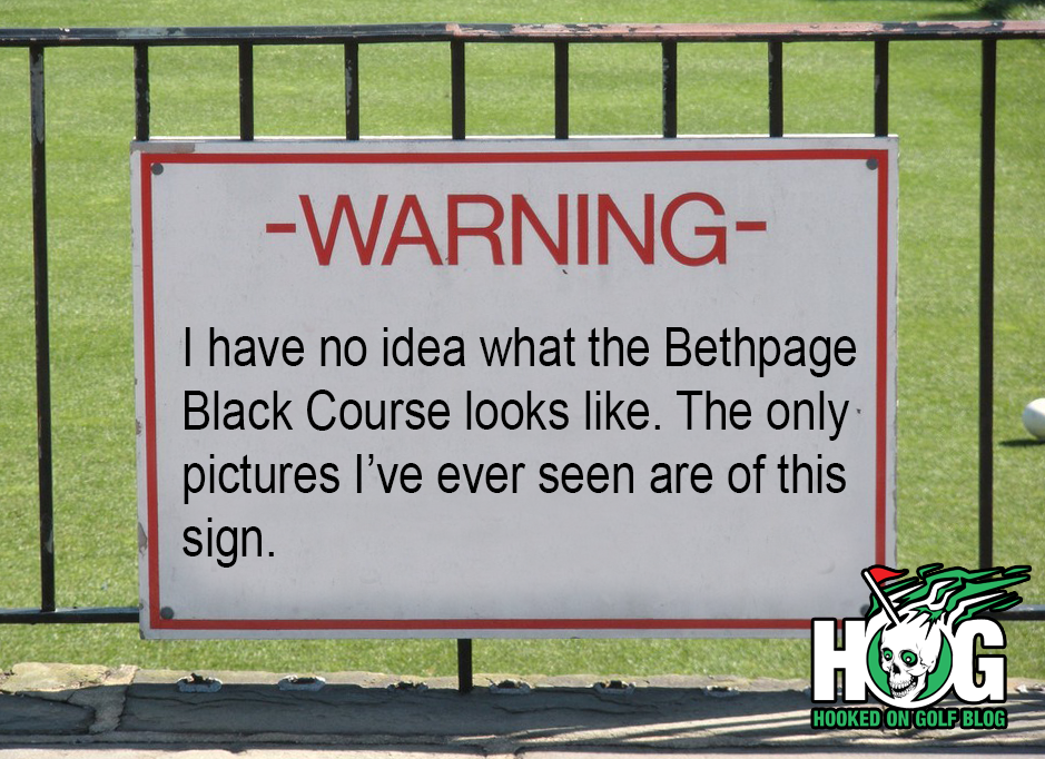 Bethpage Black Course Sign