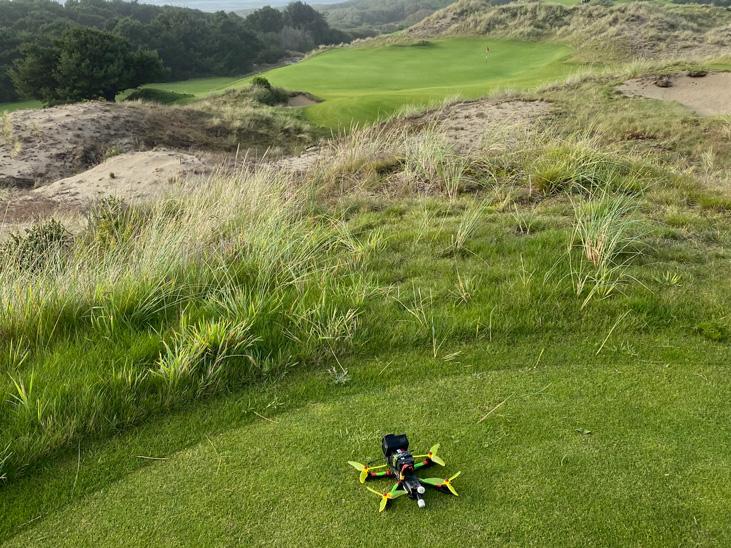 Bandon Dunes Preserve Course Racing Drone